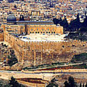 Jerusalem From Mount Olive Art Print by Thomas R Fletcher