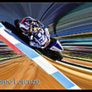 Jorge Lorenzo Art Print