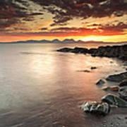 Jura Sunset Art Print