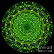 Kaleidoscope Of Glowing Circuit Board Art Print by Amy Cicconi