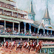 Kentucky Derby Art Print