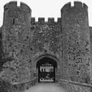 Keys To The Castle - Black And White Art Print