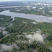 Kikori River In The Rainforest Kikori Art Print