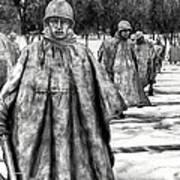 Korean War Memorial Washington Dc Art Print