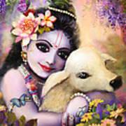 Krishna Gopal Art Print by Lila Shravani