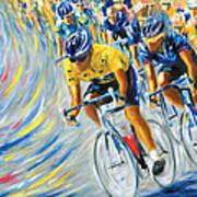 Pro Bike Racing Paris Art Print