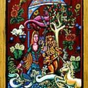 Lady Lion And Unicorn Art Print
