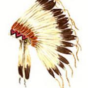 Lakota Headdress Art Print