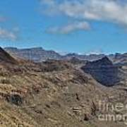 Landscape Amazing Canarian Colors Mountains Art Print
