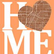 Las Vegas Street Map Home Heart - Las Vegas Nevada Road Map In A Art Print