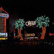 Las Vegas With Watercolor Effect Art Print