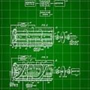 Laser Patent 1958 - Green Art Print