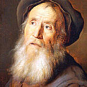 Lievens' Bearded Man With A Beret Art Print