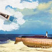 Lighthouse At Whitehaven Art Print