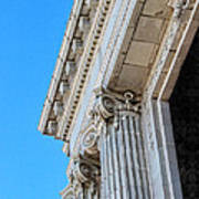 Lincoln County Courthouse Columns Looking Up 02 Art Print