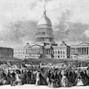 Lincoln Inauguration, 1865 Art Print