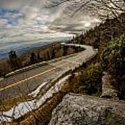 Linn Cove Viaduct During Winter Near Blowing Rock Nc Art Print