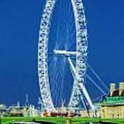 London Eye Westminster Bridge Art Print