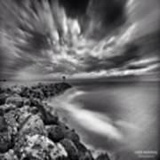 Long Exposure Sunset At The Oceanside Art Print