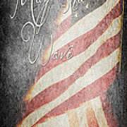 Long May She Wave Art Print