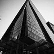 looking up at the shard building London England UK Art Print