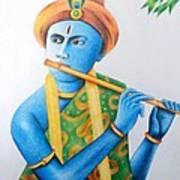 Lord Krishna Art Print by Tanmay Singh