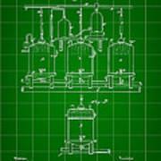 Louis Pasteur Beer Brewing Patent 1873 - Green Art Print