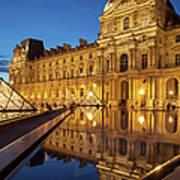 Louvre Reflections Art Print
