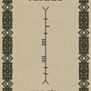 Maccabe Written In Ogham Art Print