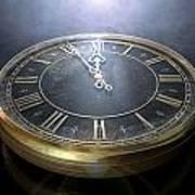 Macro Antique Watch Midnight Art Print
