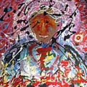 Man In A Cosmic Landscape Of Emotion Art Print