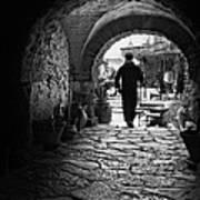 Man In An Archway / Hammamet Art Print