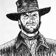 Clint Eastwood Art Print