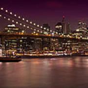 Manhattan By Night Art Print