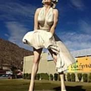 Marilyn In Palm Springs Art Print