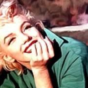 Marilyn Monroe Large Size Portrait Art Print