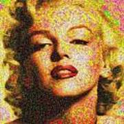 Marilyn Monroe - 100 Dollars Art Print