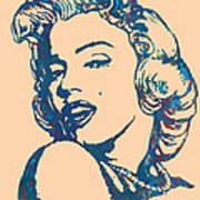 Marilyn Monroe Stylised Pop Art Drawing Sketch Poster Art Print