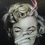 Marilyn's Crimson Haze Art Print