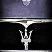 Maserati Hood - Grille Emblems Art Print