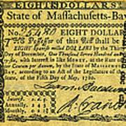 Massachusetts Banknote Art Print
