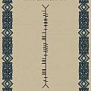 Mccarthy Written In Ogham Art Print