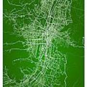 Medellin Street Map - Medellin Colombia Road Map Art On Colored  Art Print