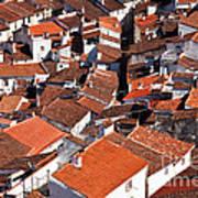 Medieval Town Rooftops Art Print