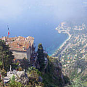 Mediterranean Below Eze 2 Art Print