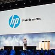Meg Whitman At Hp Discover 2012 Art Print