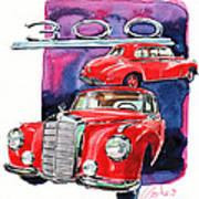 Mercedes 300 Art Print