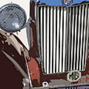 Mg Grille Abstract Art Print