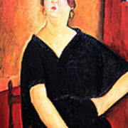 Modigliani's Madame Amedee -- Woman With Cigarette Art Print