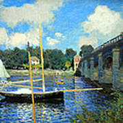Monet's The Bridge At Argenteuil Art Print